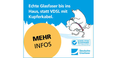 Deutsche Glasfaser - High-Speed-Internet - Echte Glasfaser